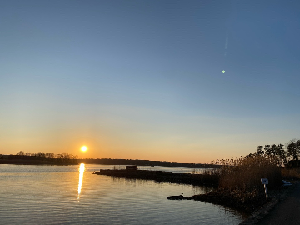 Old Lyme, CT - Wrapping up the day with this beautiful sunset!