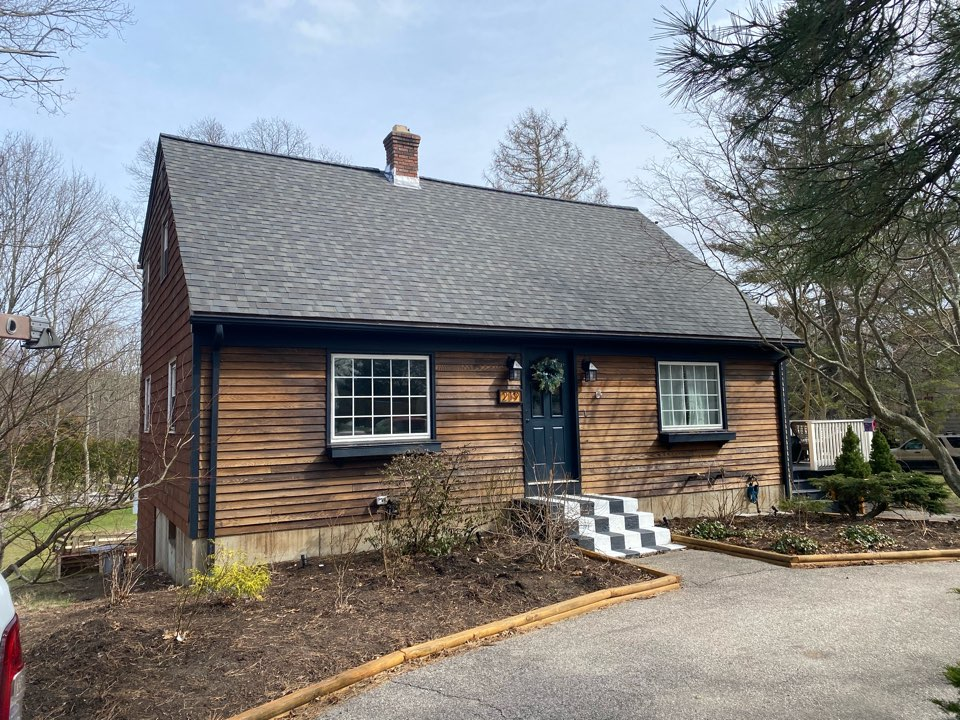 Coventry, RI - New CertainTeed driftwood roof with brand new lead and puck vents.