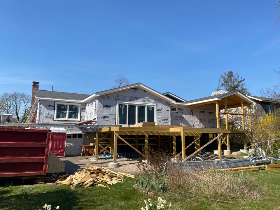 Charlestown, RI - New construction roof going on fast!