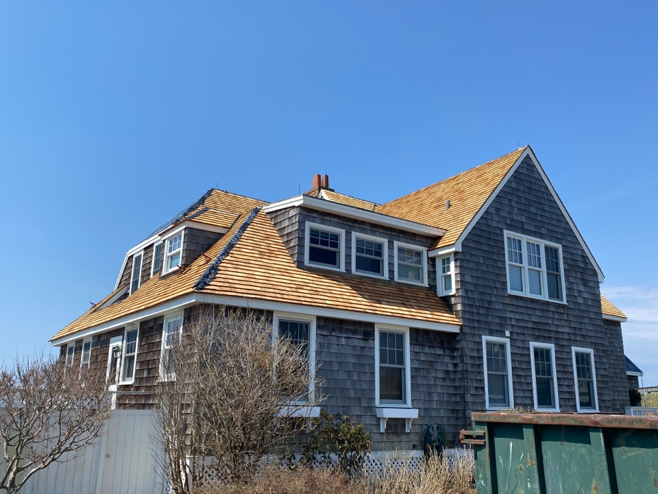 Westerly, RI - Wood roof almost completed!