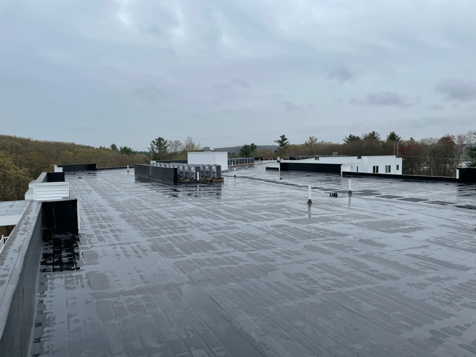 North Smithfield, RI - Inspecting one of our recent installs . Dowling Village Apts. N. Smithfield, RI.