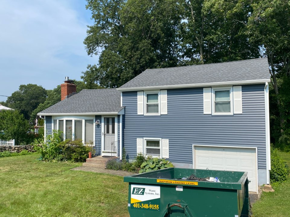 Groton, CT - New GAF HDz pewter gray roof! Getting the roof ready for the rain.