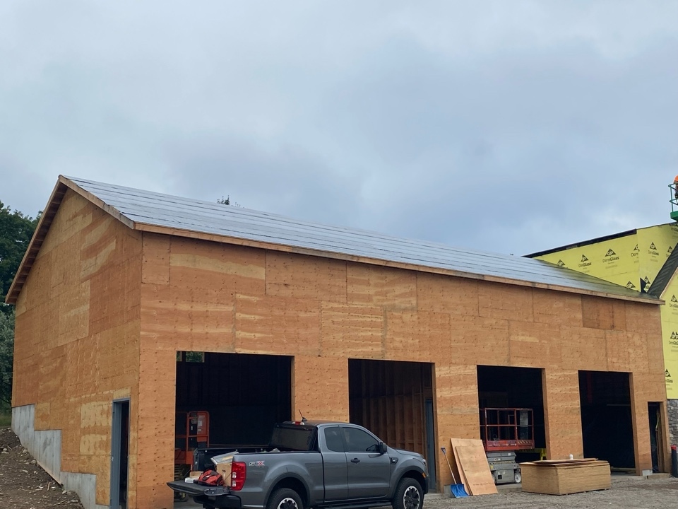 Montville, CT - Before the metal roof goes on we installed CertainTeed winter guard high temp ice and water shield!