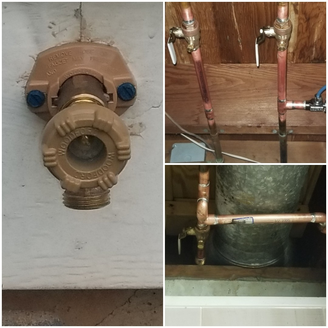 Middletown, PA - replacing leaking isolation shut off valves and hose bib in Middltown.  fun fact #82 Middletown was founded in 1775