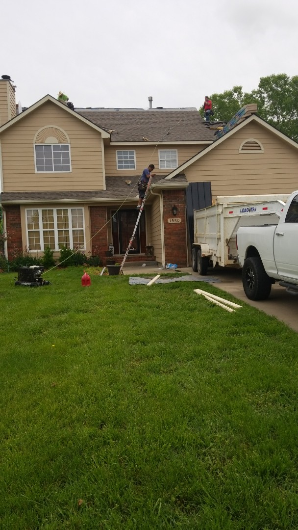 Andover, KS - Roofing a residential house
