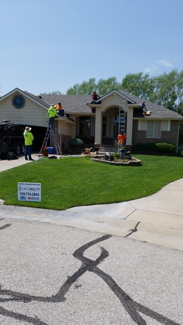 Wichita, KS - Re roofing hail damage home