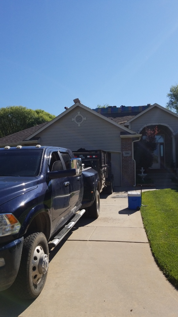 Wichita, KS - Roofing residential property after a hail storm