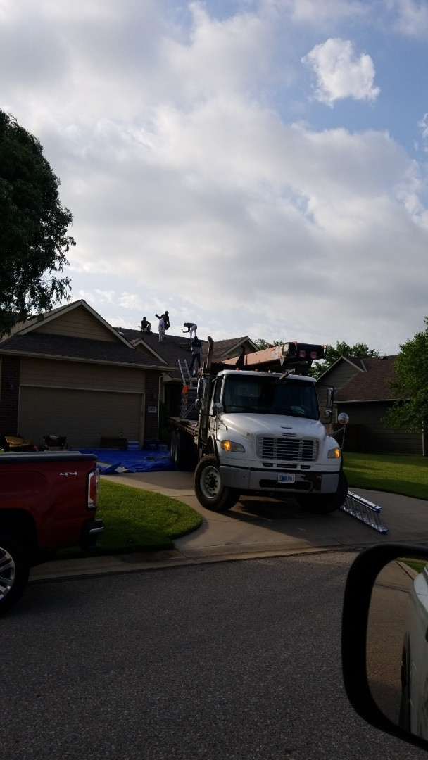 El Dorado, KS - Residential property roofing after a hail storm