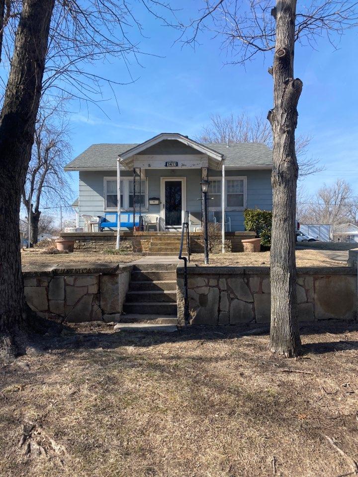 Arkansas City, KS - Roof inspection for a leak.