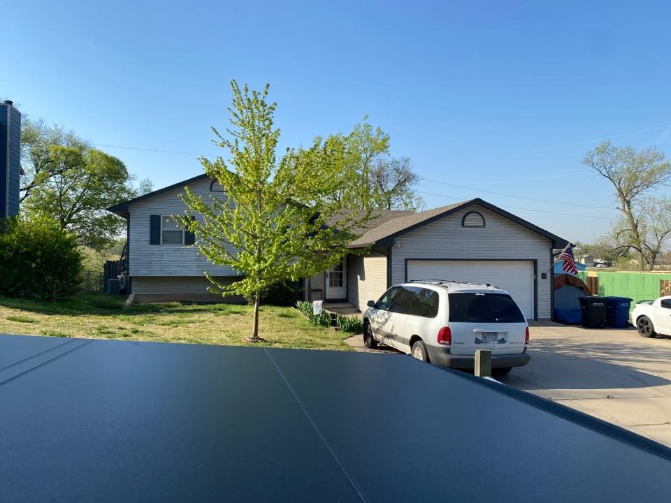 Augusta, KS - Roof estimate on shed.