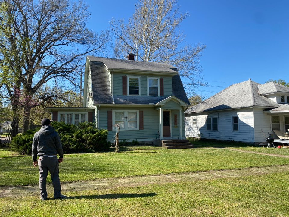 Winfield, KS - Roof inspection for missing shingles.