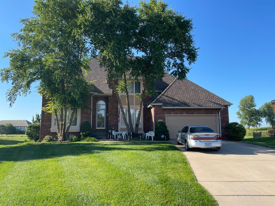 Wichita, KS - Chimney inspection for damaged chimney chase cover. Fire place