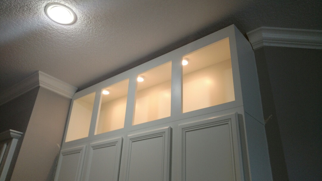 Apollo Beach, FL - Installed can conversion kits. Hung new pendent lights were old cans used to be. Installed under cabinet lighting on dimmers.