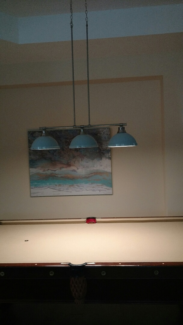 Installing light outlet and pool table light