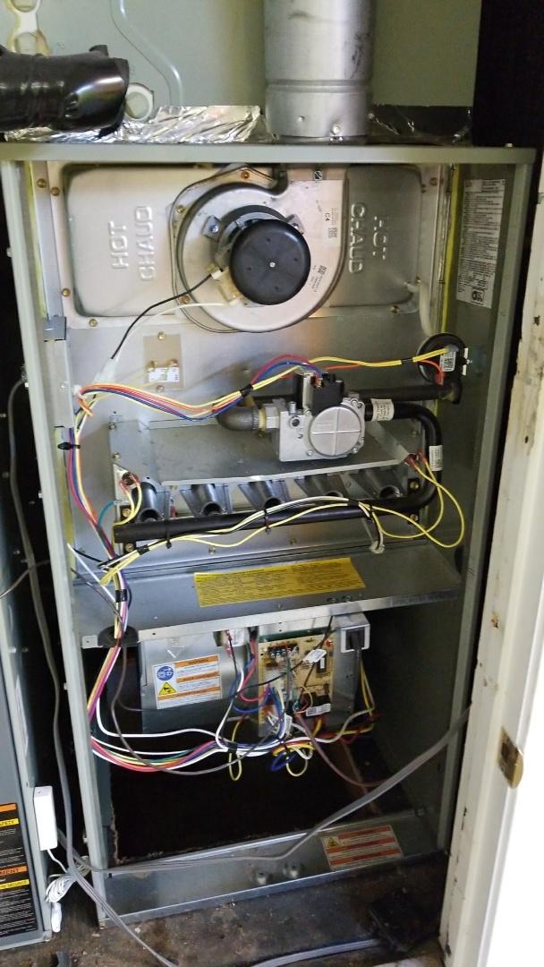 Servicing a trane gas furnace