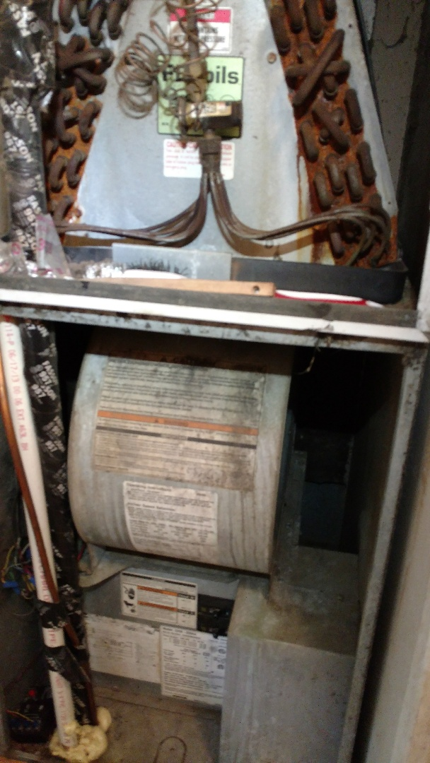 Overton, TX - Working on a heating maintenance