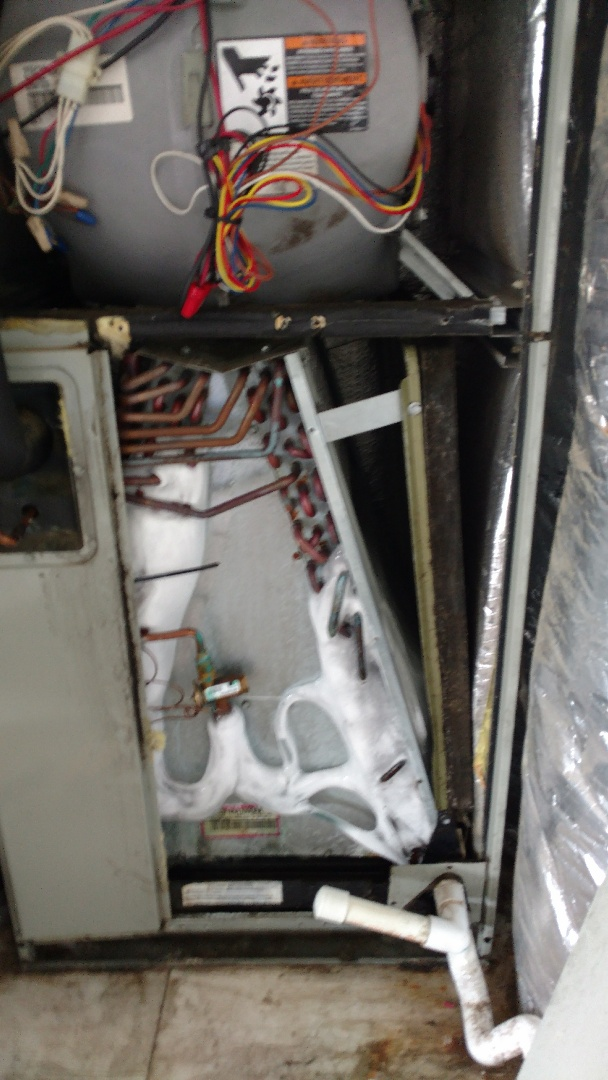 Troup, TX - Working on a cooling maintenance and found indoor coil iced over