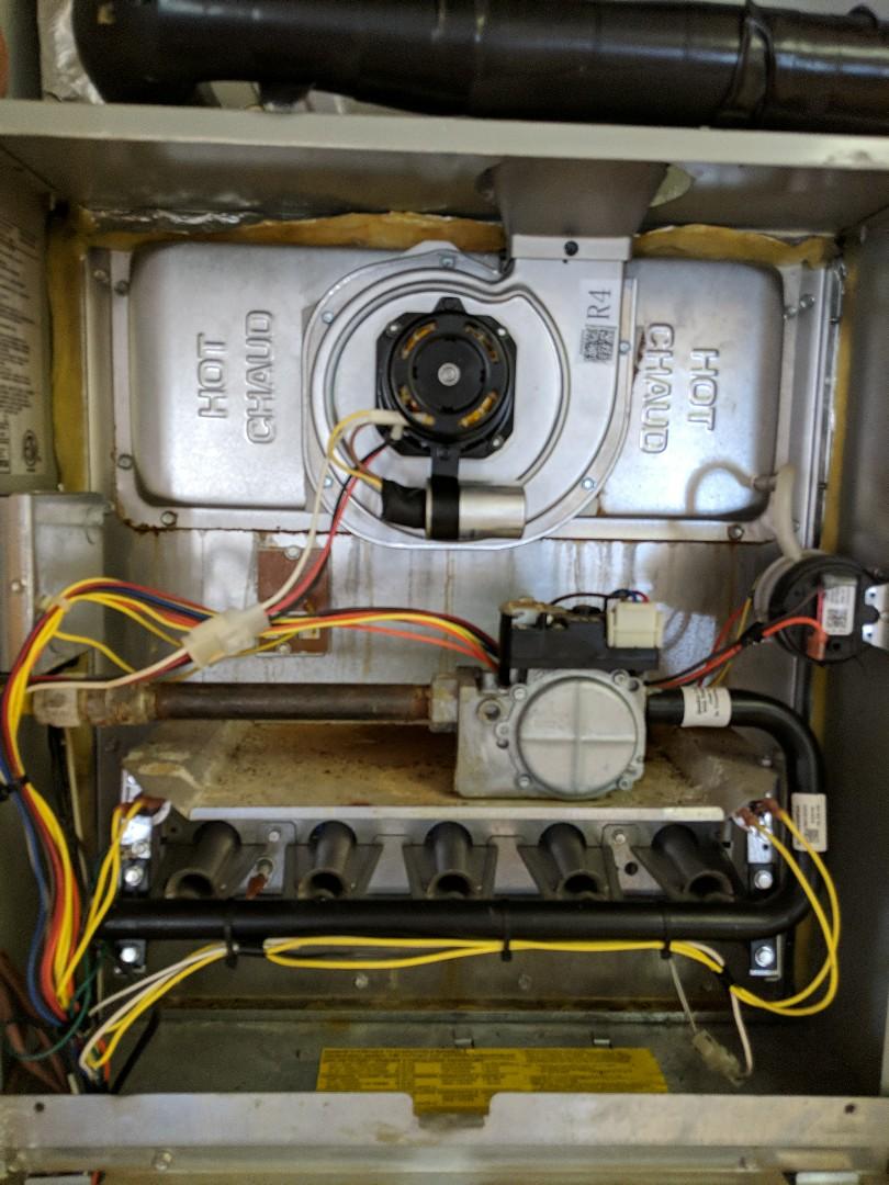 Tatum, TX - Replacing an inducer draft blower