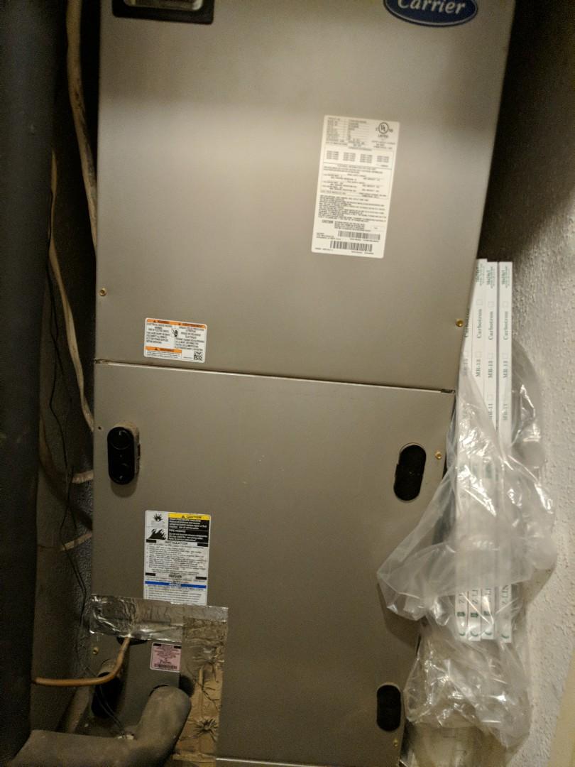 Starting a heating maintenance