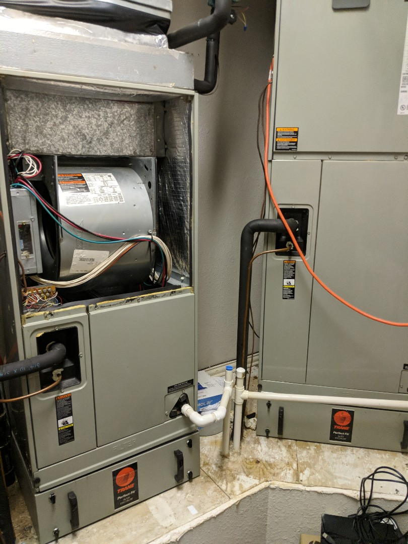 Performing a commercial heating maintenance