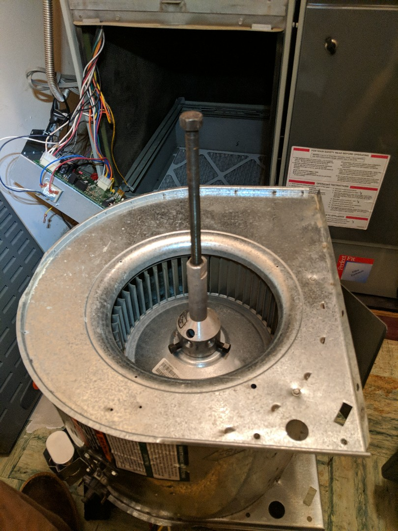 Replacing a blower motor