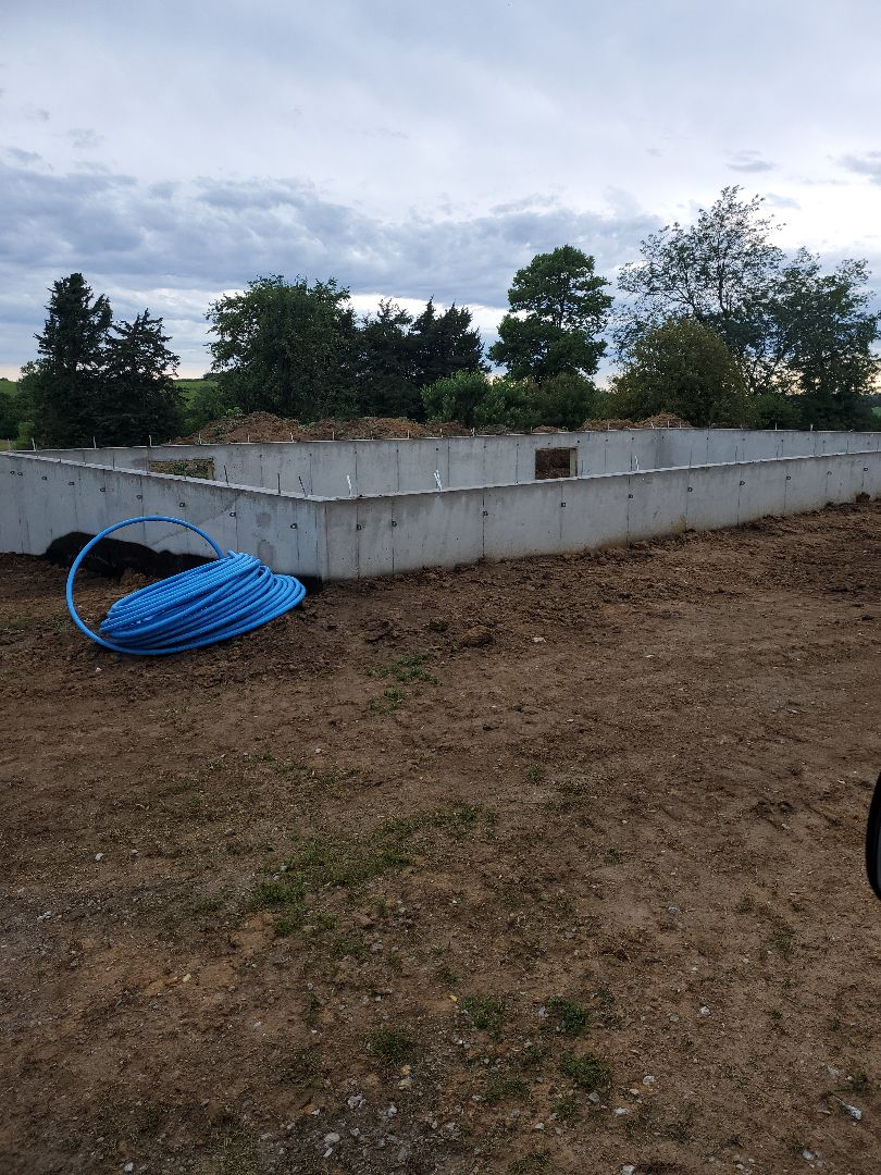 Chelsea, IA - Basement ready for new modular home 1,300 sf
