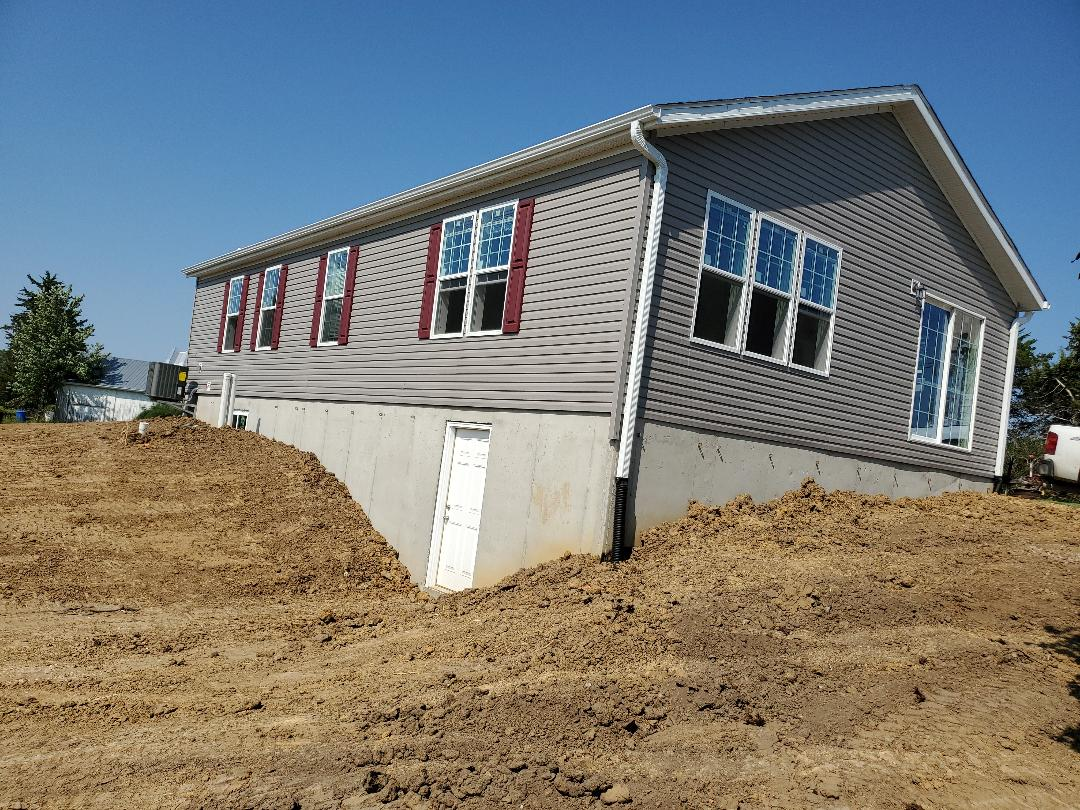 Chelsea, IA - New two bedroom,  1,300 sf to replace old farm house