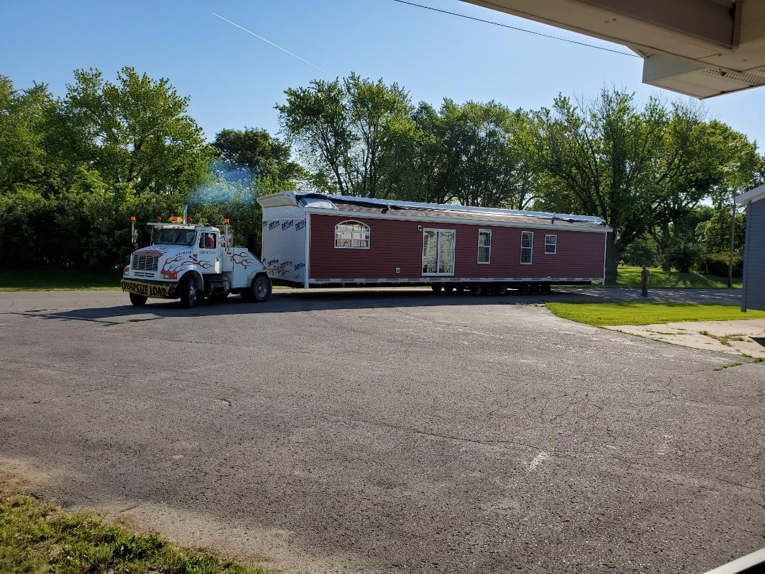 Oskaloosa, IA - New  Fairmont modular home going here in Oskaloosa today. Pinehurst model with 1,850 sf.