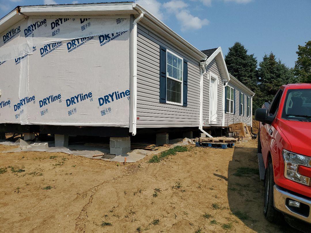 Newton, IA - New home in Newton.  Garage starting soon