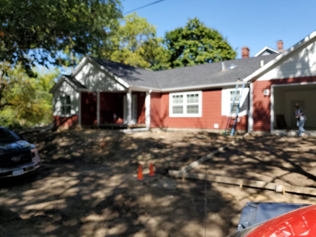 Oskaloosa, IA - Finishing touches. Still need garage door,concrete work, steps and sidewalk