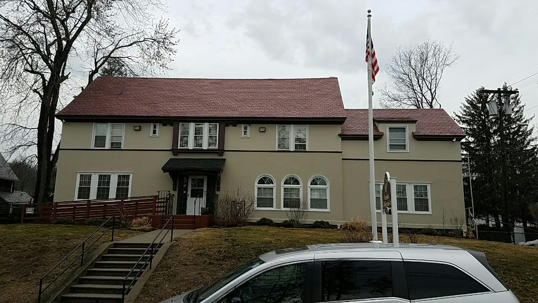 Waterbury, CT - Estimating a slate roof tear off with a full plywood replacement and installing a GAF shingle