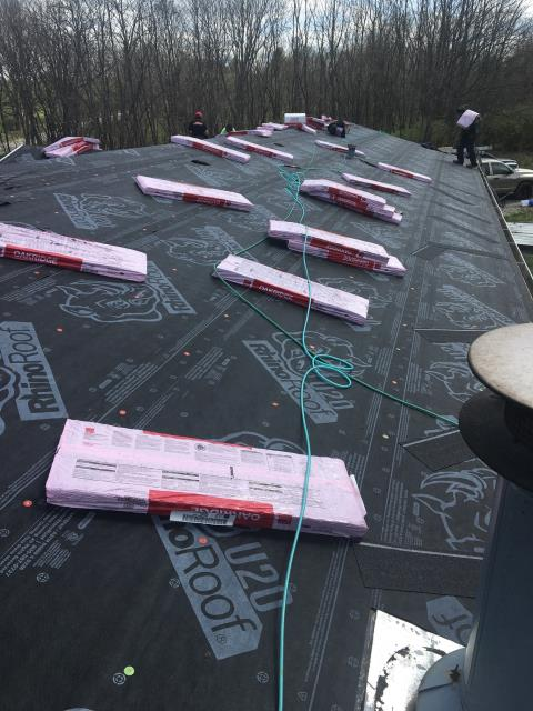 Danville, KY - Shingle Roof Materials for 2,025,62 ft 2 x 3/12 pitch slope factor of 1.03= 2085.36 x 10% waste= 2, 294 so will need 23 sq for roof.