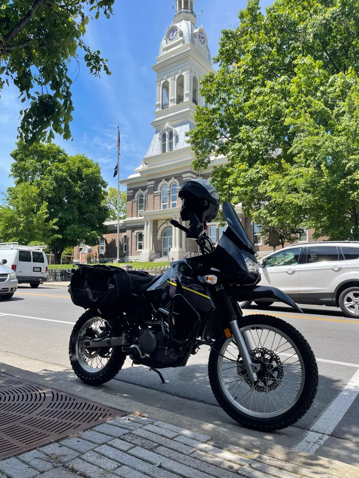 Nicholasville, KY - Take a little ride downtown Nicholasville today on motorcycle scouting roof projects and visiting former clients! Beautiful day for be out! Enjoy!