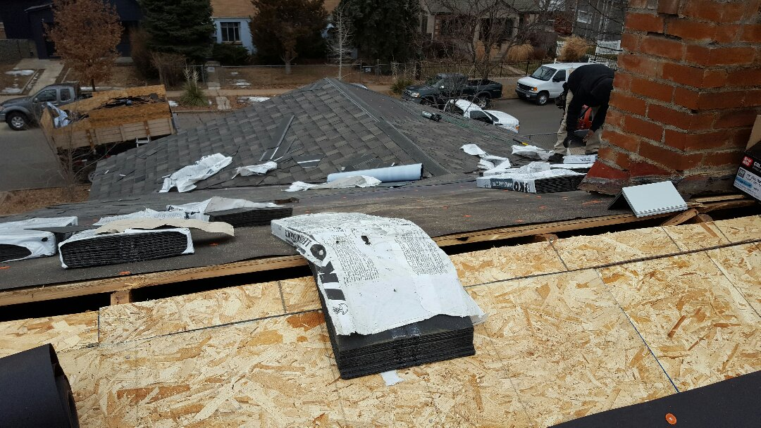 Denver, CO - Re-roof from wind damage.
