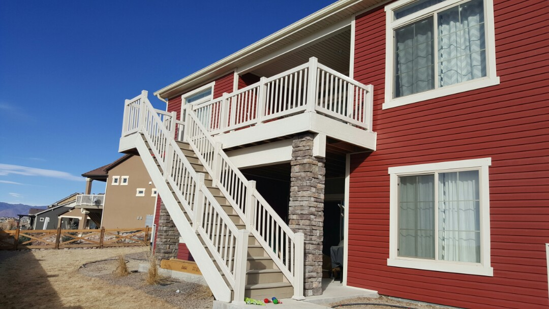 Colorado Springs, CO - New deck railing, siding, and windows completely re-done. No job too big. #greatroofingandrestoration