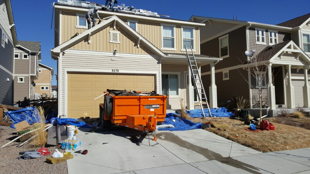 Colorado Springs, CO - Complete reroof from recent hail storm