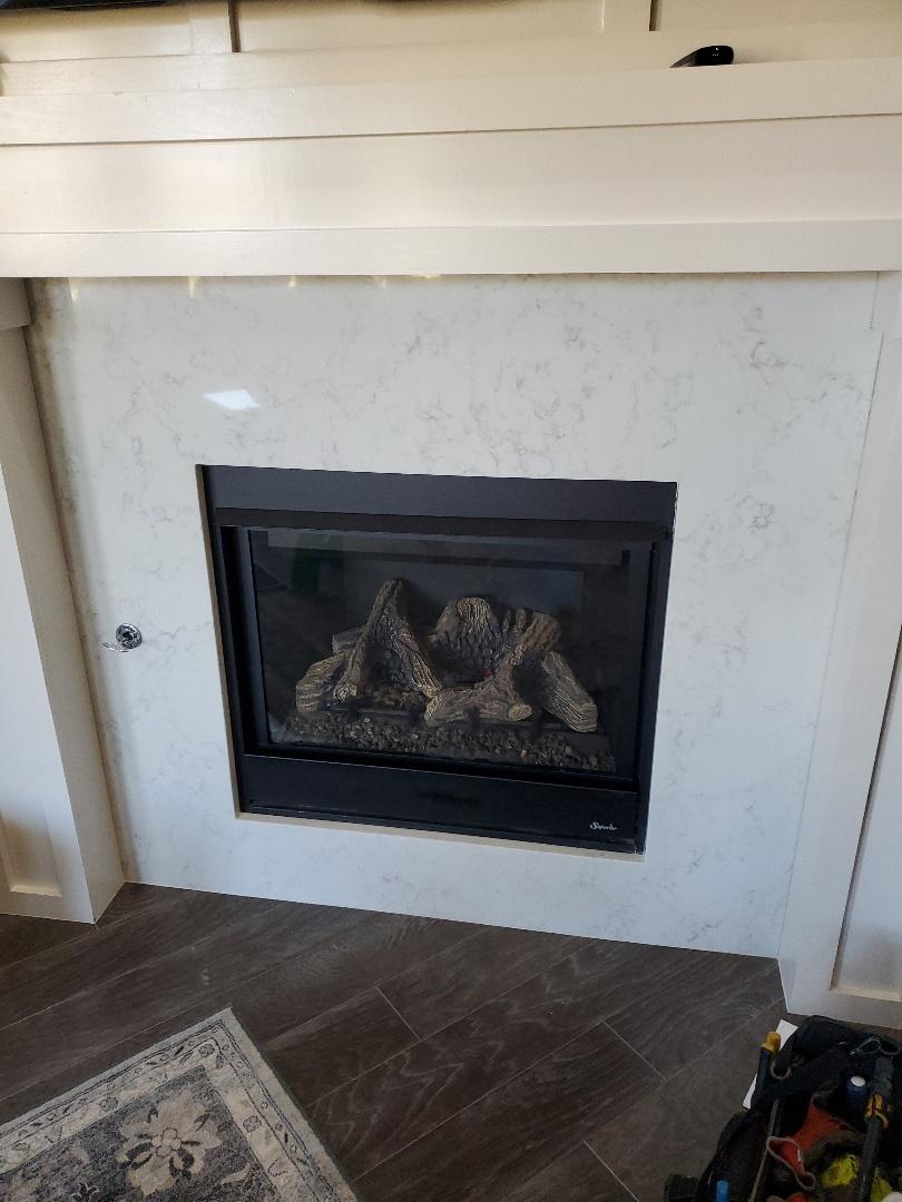 Arcadia, OK - Gas fireplace repair service call