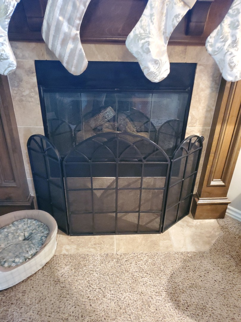 Edmond, OK - Gas Fireplace ceramic log insert repair service call found limit switch faulty reset limit switch