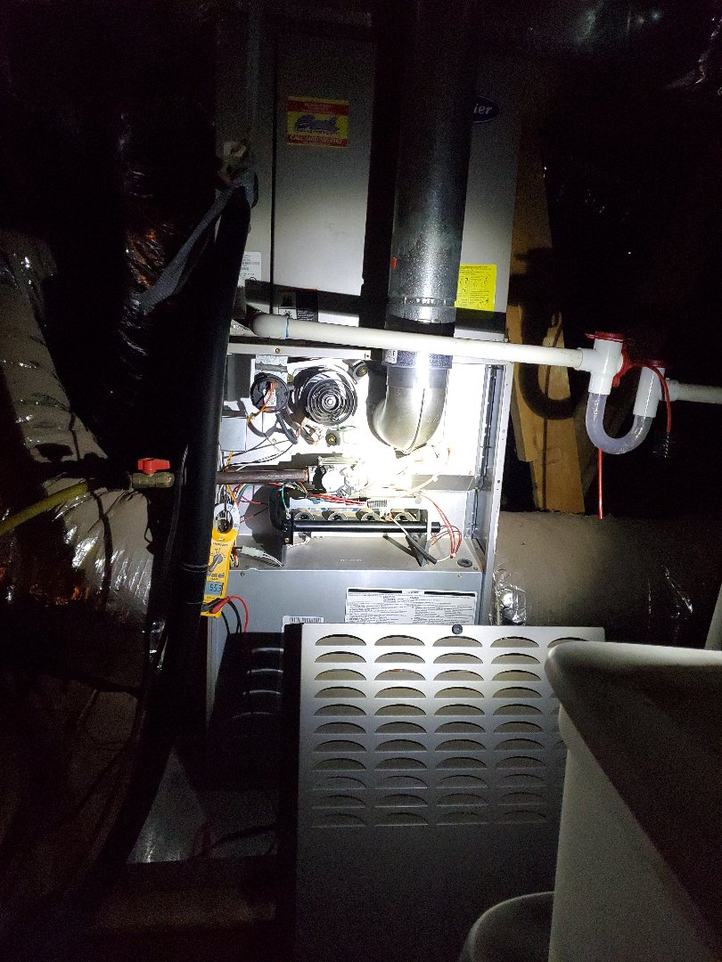 Yukon, OK - Furnace maintenance service club no gas furnace repair needed currently 124.7 volts ac 9.96 mfd blower cap rated @ 10 5.75 amps total 1.2 inducer motor 4.2 amps blower motor