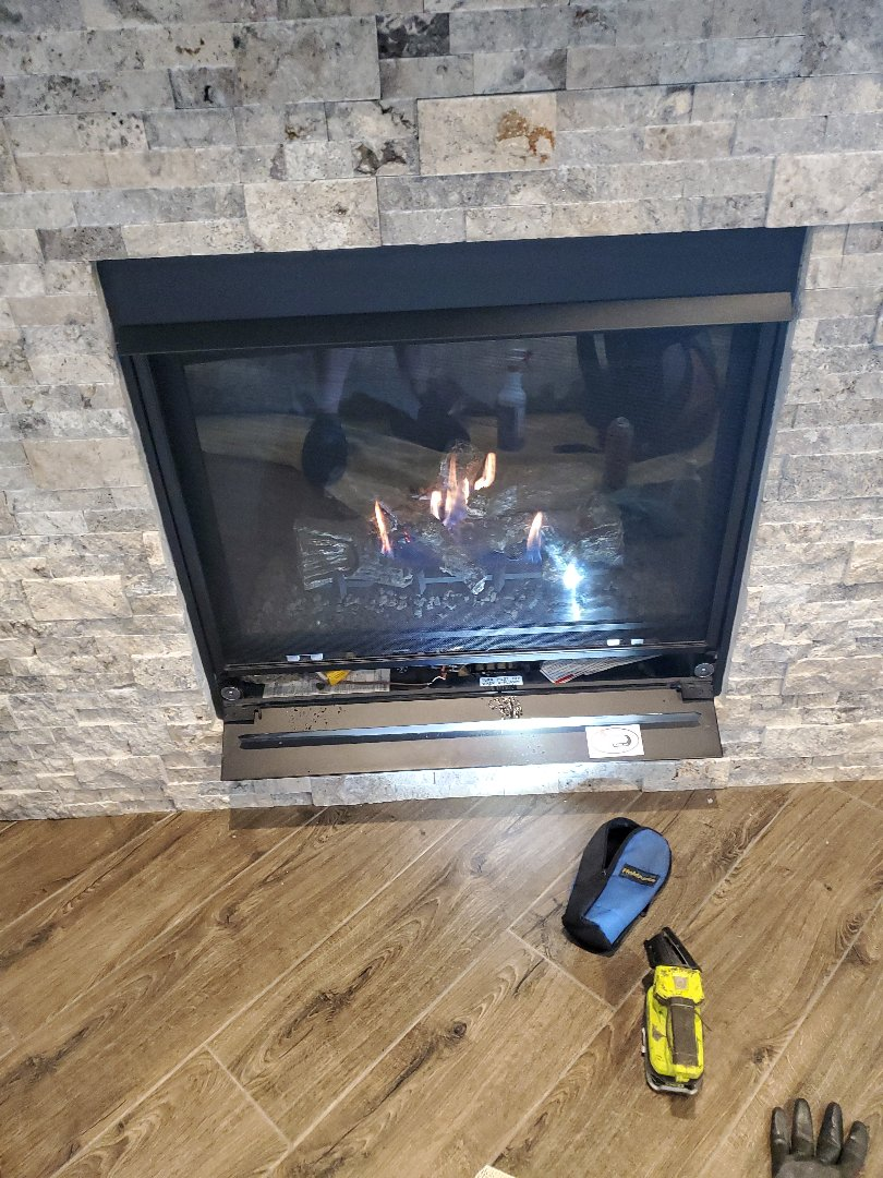 Gas fireplace inspection cleaning service