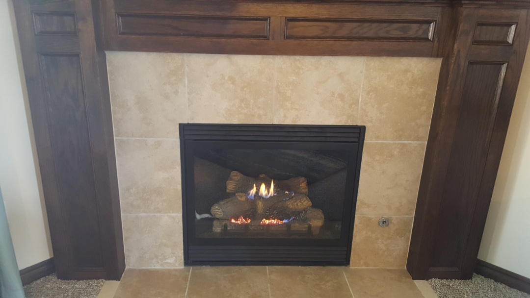Yukon, OK - Repairing / replacing Gas valve on gas fireplace in Johnson farms edition