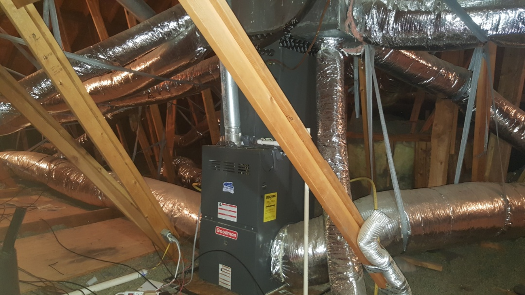 Guthrie, OK - Air duct cleaning return air duct is extremely dirty kids have allergies sanitizing air ducts cleaning air handler and evaporator coil with air duct cleaning service company