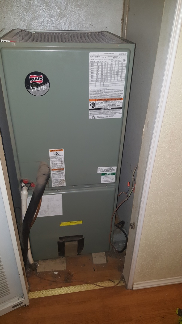 Edmond, OK - Installing new heat strip kit in Ruud heater with new contactor relay switches and 60 amp disconnect breaker switches