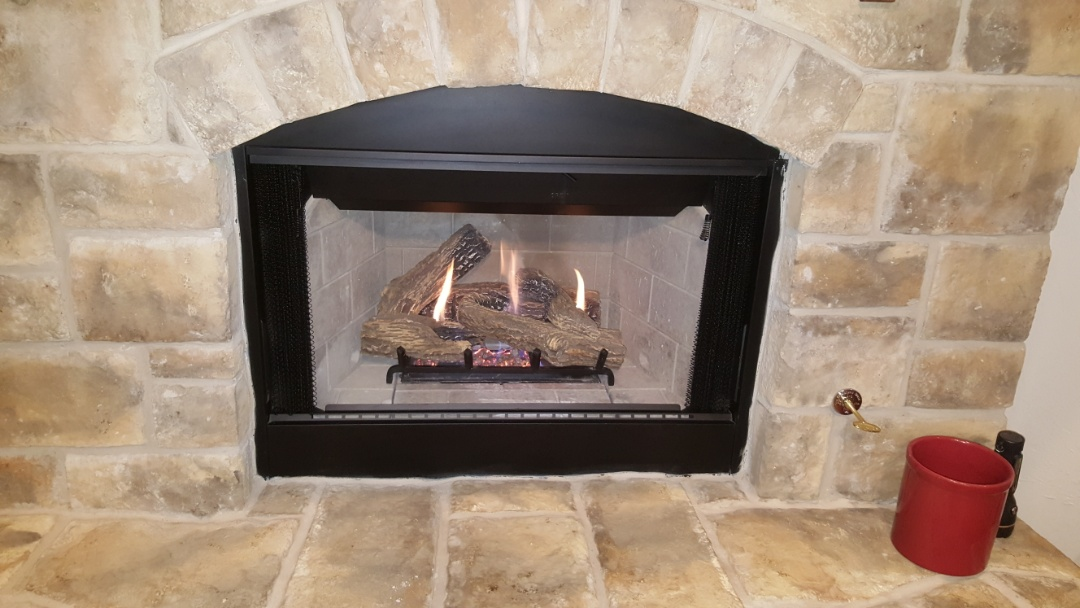 Edmond, OK - Repairing gas fireplace after finding that pilot ignition system and safety system is not functioning properly replacing safety switches as well as ignition system renovation and complete system renovation