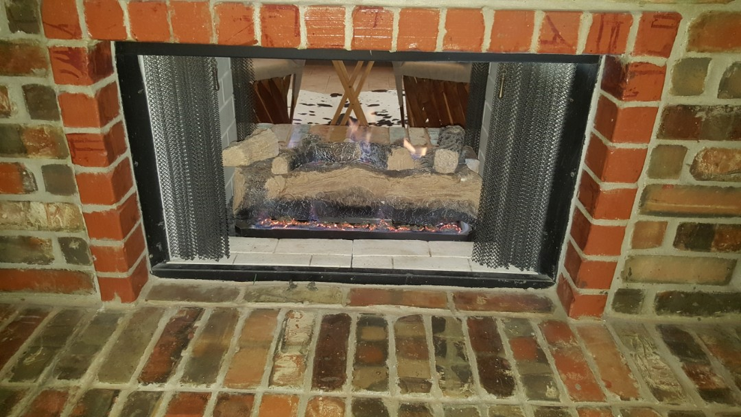 Oklahoma City, OK - Finishing gas fireplace repairs for local client near will rogers airport
