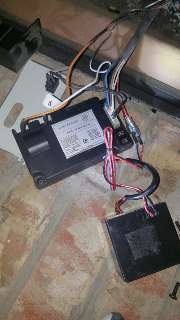 Arcadia, OK - Troubleshooting in diagnosing cozy heat gas fireplace in residential home near Arcadia Lake after finding that batteries in remote receiver control module box were in need of replacement and fireplaces working wonderfully now
