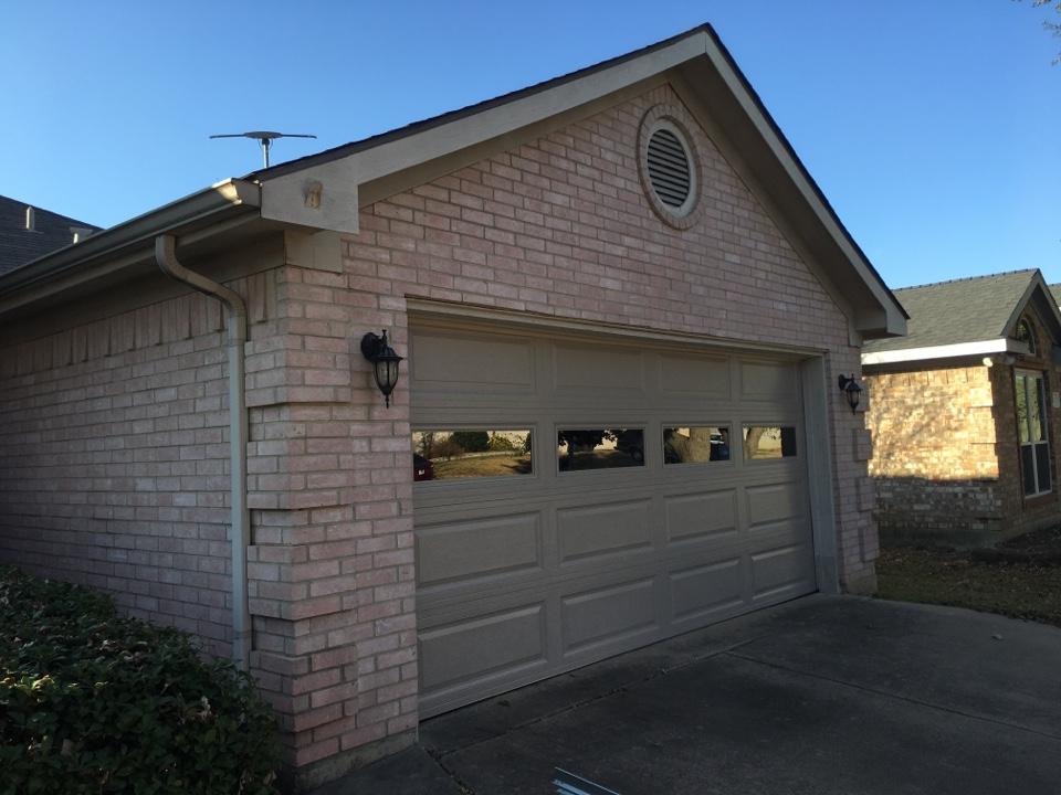 Installed a new garage door.