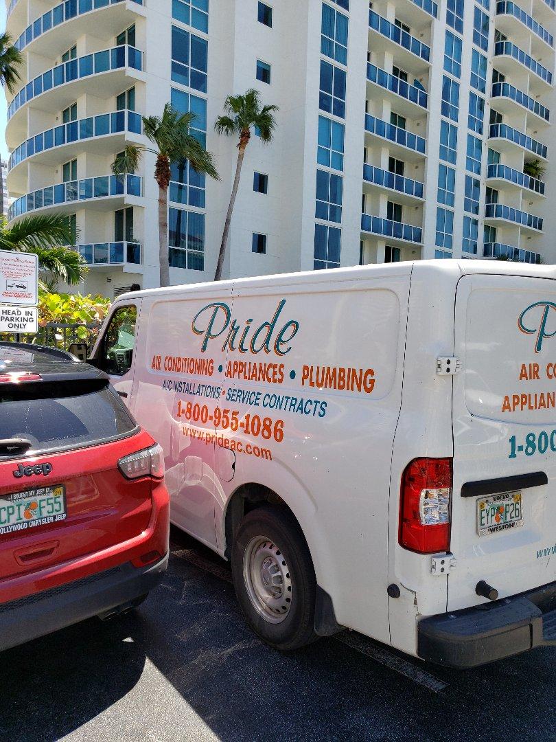 Hallandale Beach, FL - Garbage disposal out.
