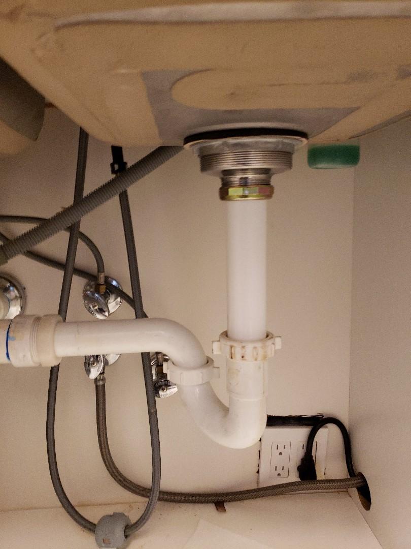 Kitchen sink basket strainer installation