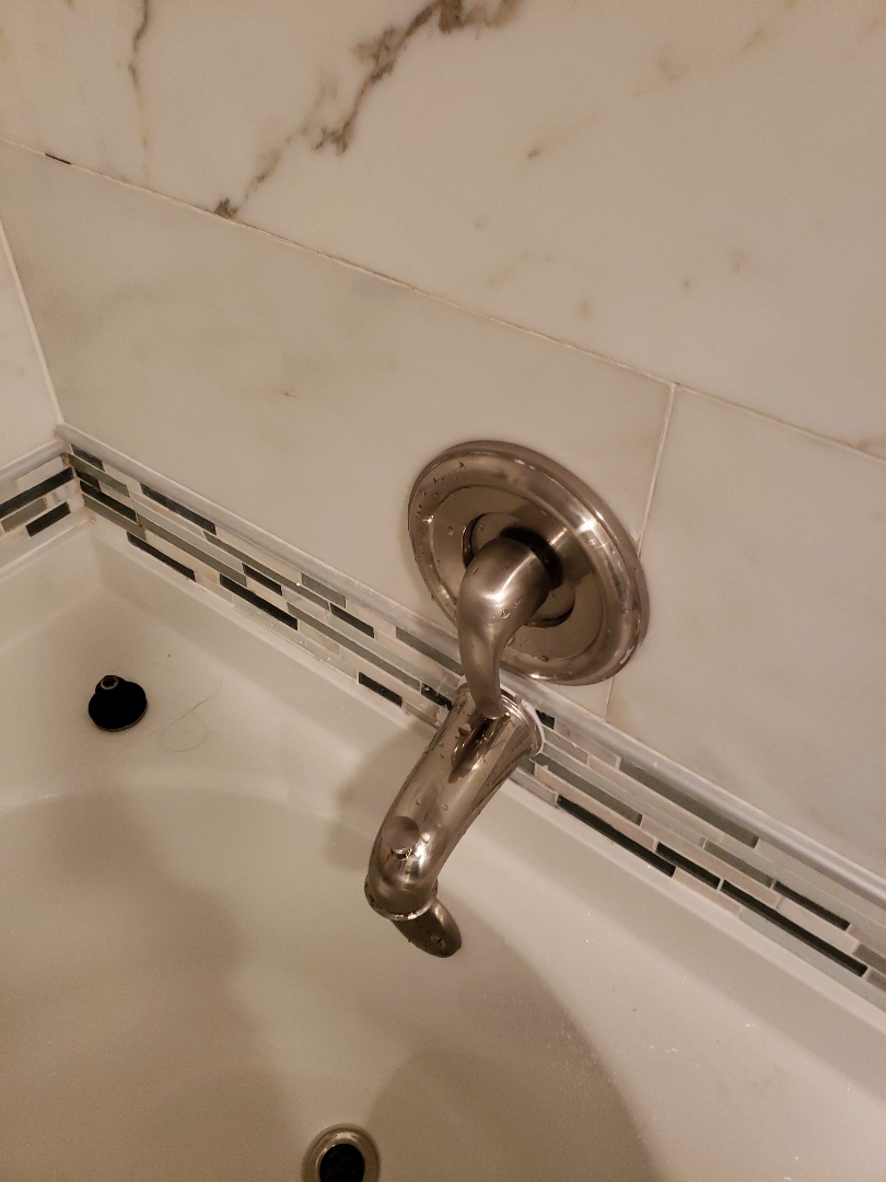 Master bath tub spout installation
